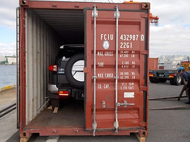 Car-loaded-in-container-to-ship-from-Jap
