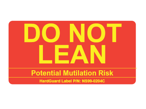 DO NOT LEAN (Label) - $1.50