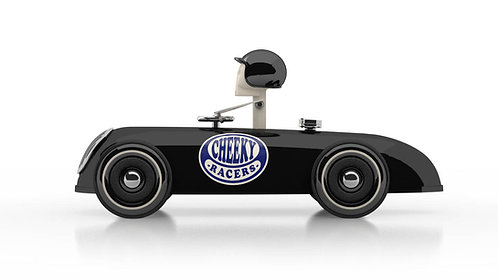 Cheeky Racer Schwarz / Aufdruck Blau - Model: Logo