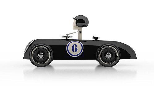 Cheeky Racer Schwarz / Black // Aufdruck Blau / Imprint Blue - Model: No6