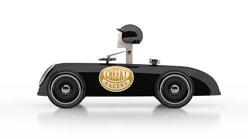 Cheeky Racer Schwarz / Black // Aufdruck Gelb / Imprint Yellow - Model: Logo