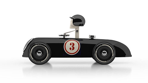 Cheeky Racer Schwarz / Black // Aufdruck Rot / Imprint Red - Model: No 3