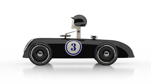 Cheeky Racer Schwarz / Black // Aufdruck Blau / Imprint Blue - Model: No 3