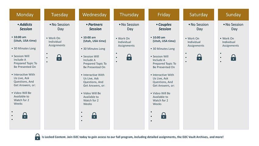 FINAL and PUBLIC D2C Weekly Calendar Sch
