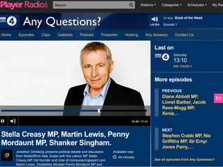 Penny Mordaunt MP on BBC Radio 4 - Any Questions with Jonathan Dimbleby