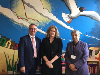 Penny visits Roberts Centre to hear future service plans
