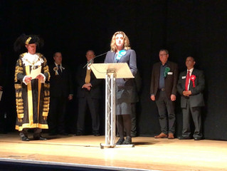 Penny Mordaunt wins with landslide majority in Portsmouth North seat.