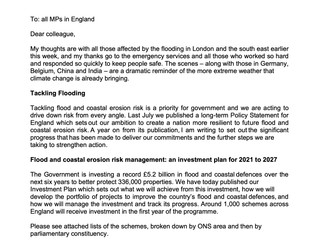 DEFRA announced £29,624,532 additional funding to combat flooding for Portsmouth