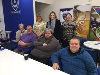 Penny Mordaunt MP meets with Pompey disabled supporters.