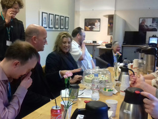 Penny Mordaunt MP visits service users at RNIB