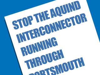 Preventing the AQUIND interconnecter project running through Portsmouth