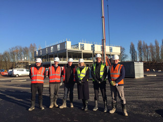 Penny Mordaunt MP visits the new Cosham WDC Village Hotel construction site