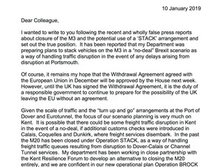 Confirmation from the DoT about the port and the M3.