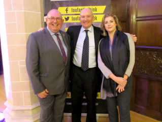 Penny Mordaunt MP supports student book launch with the 'BFG' Steve Frampton at Highbury Col