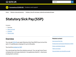 Government's Coronavirus Statutory Sick Pay Rebate Scheme is now live