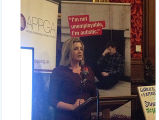 Penny Mordaunt MP is guest speaker at the All Party Parliamentary Group on Autism, in support of clo