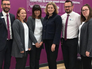 Penny Mordaunt MP opens Vision Express North Harbour