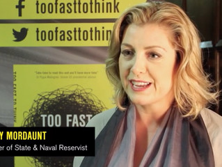 Penny Mordaunt supports the 'Too Fast to Think' campaign'