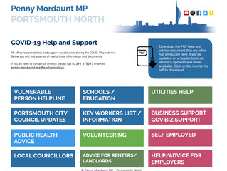 Penny Mordaunt launches COVID-19 help/advice micro-site.