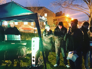 Penny Mordaunt MP opens the Carols in College Park and Roving Nativity