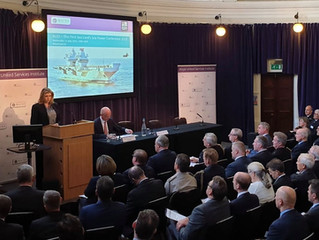 Penny Mordaunt MP, Secretary of State for Defence speaks at Sea Power Conference 2019