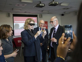 The Minister of Disabled People, Work and Health Penny Mordaunt visited the University of Reading.