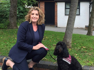 Penny Mordaunt MP praises the life changing work of Hearing Dogs charity.