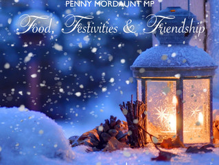 Penny Mordaunt MP launches 'Food, Festivities & Friendship' campaign to tackle lonelines