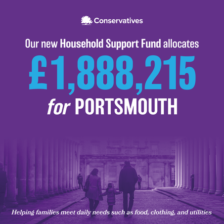 Penny Mordaunt MP welcomes £1,888,215 funding as part of £500m support for vulnerable households