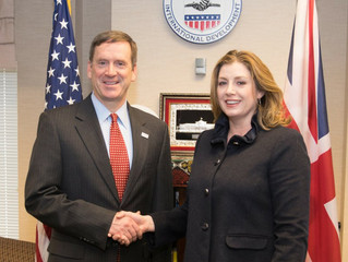 Penny Mordaunt MP meets with Mark Green from US Aid.