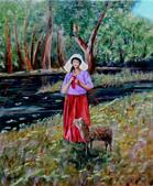 La bergère au tricot