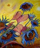 Les tournesols bleus