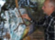 Peinture en plein air. Golfe du Morbihan