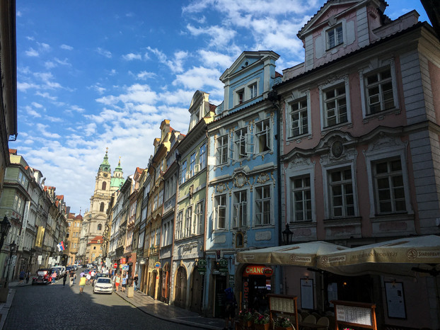A beautiful and colorful street in Prague