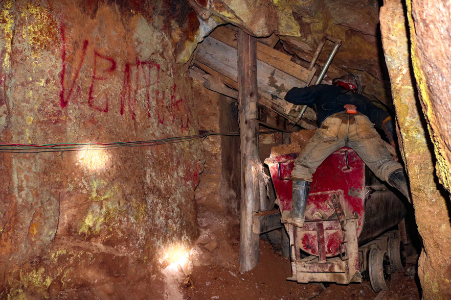 Another shot from inside those same mines in Potosi, Bolivia.