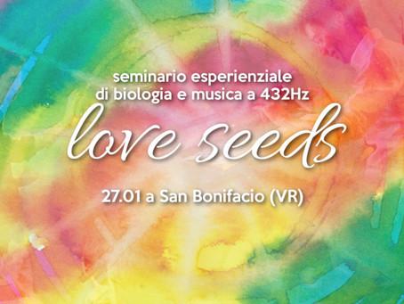 Love Seeds - Conferenza concerto a 432Hz con Emiliano Toso (27.01 a SAN BONIFACIO - VR)