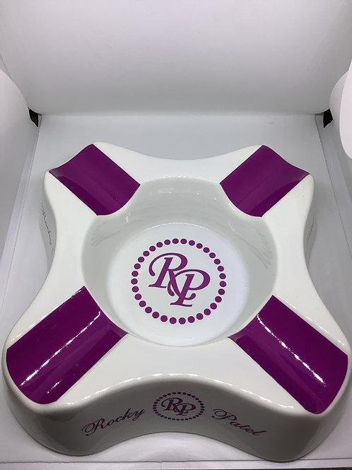 Rocky Patel Ashtray White & Purple