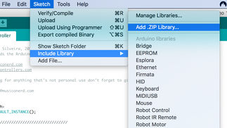 How to add the MIDI library to the Arduino IDE