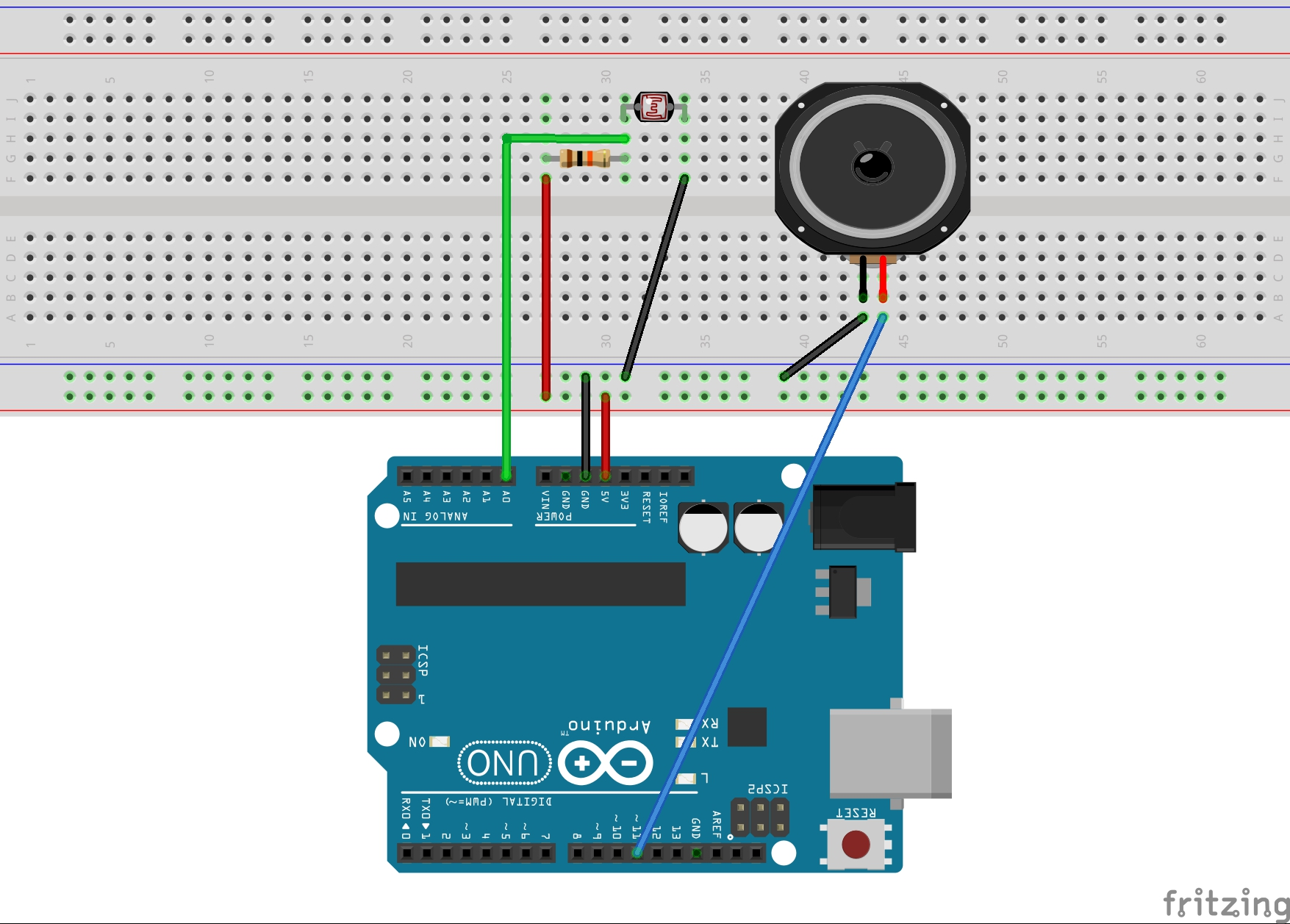 Circuito Ldr : Learn how to make a simple theremin with an arduino and an ldr