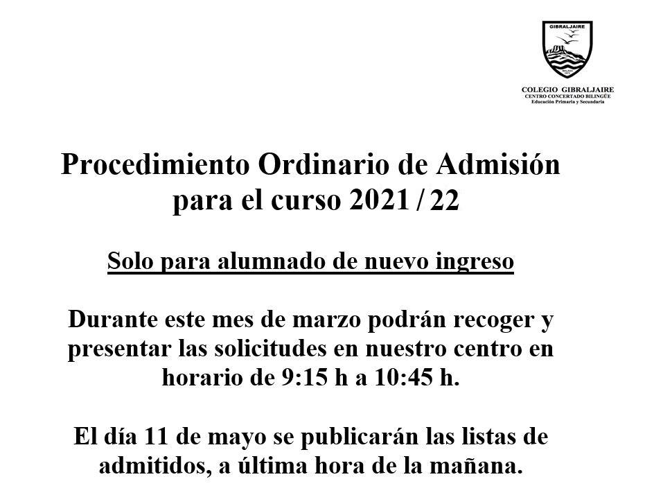 Comunicación admision
