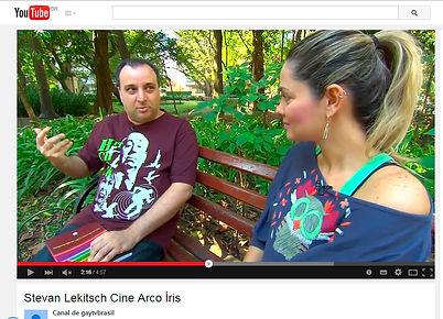 Entrevista para o canal Gay TV Brasil sobre o livro Cine Arco-íris