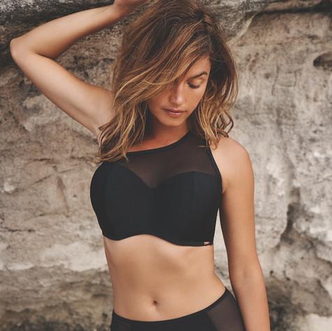 Onyx Bikini Top by Panache