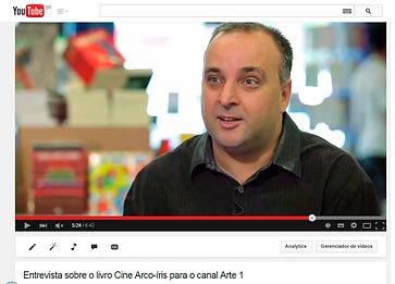 Entrevista para o canal Arte 1 sobre o livro Cine Arco-íris