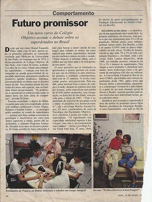 Matéria com o escritor Stevan Lekitsch na Revista Veja