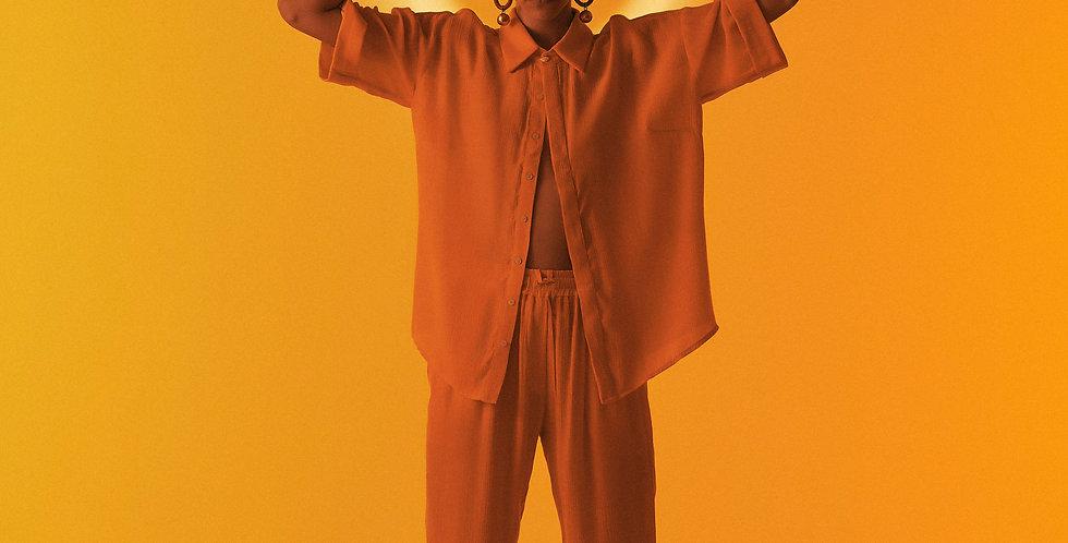 Calça Cadarço Amarela
