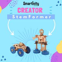 Wind-up car + Robot STEMFormer