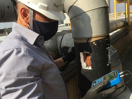 Inspeção em equipamentos pressurizados e tubulações industriais