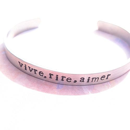 BRACELET -  vivre, rire, aimer /live,laugh, love/vir, reír,amar