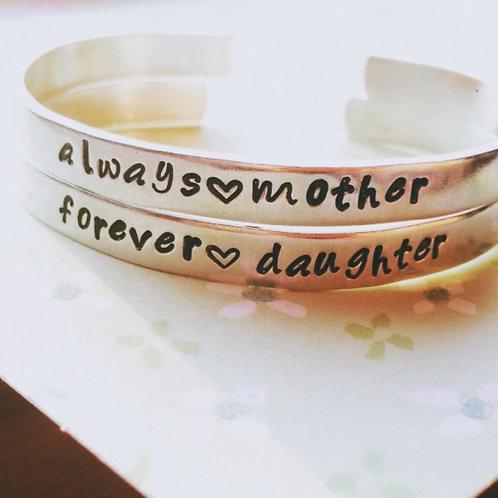 Ensemble de deux  BRACELETS always mother 💞 forever daughter