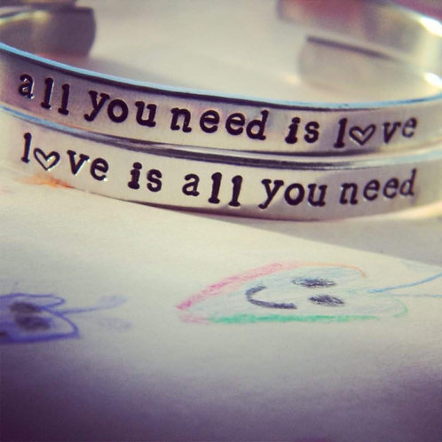 BRACELETS- ALL YOU NEED IS LOVE/LOVE IS ALL YOU NEED